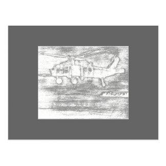 Greyscale chopper postcard