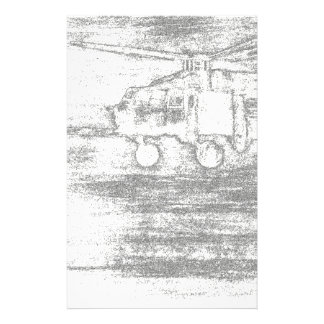 Greyscale chopper stationery