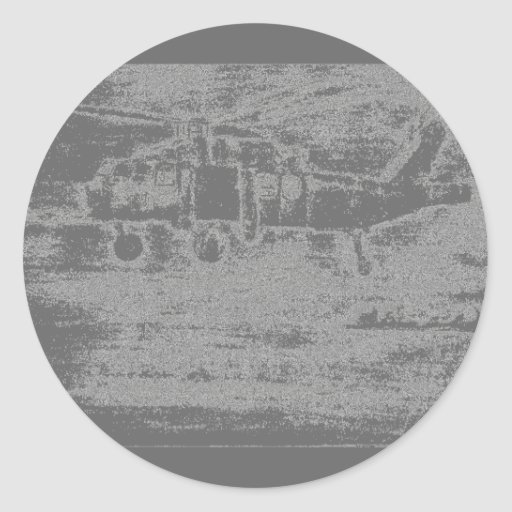 Greyscale chopper sticker