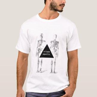 Greyscale human skeleton - 'live your life' T-Shirt