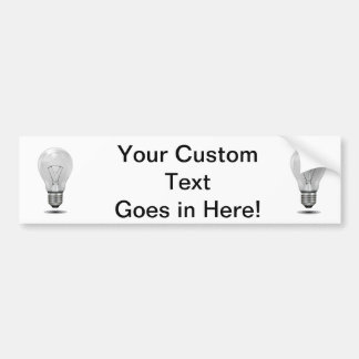 greyscale lightbulb graphic realistic.png bumper stickers