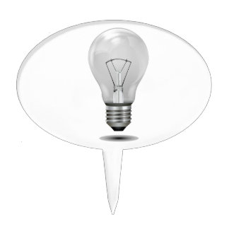 greyscale lightbulb graphic realistic.png cake topper