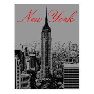 Greyscale New York City Post Card