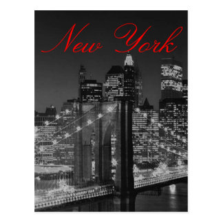 Greyscale New York Script Post Card
