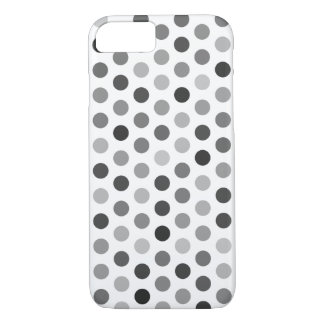 Greyscale Polka Dot Patterned Case