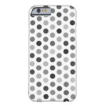Greyscale Polka Dot Patterned Case Barely There iPhone 6 Case