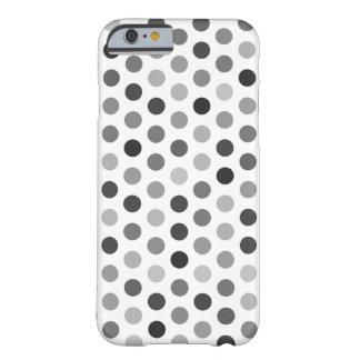 Greyscale Polka Dot Patterned Case