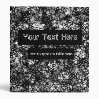Greyscale Splatter 3 Ring Binder
