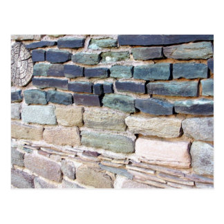 greywhackle stone wall aztec ruins new mexico post card