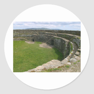 Griahan of Aileach stone fort Classic Round Sticker