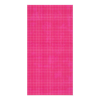 GRID12 HOT RICH CANDY PINK GRID GIRLY PATTERN TEMP CARD