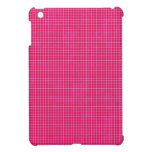 GRID12 HOT RICH CANDY PINK GRID GIRLY PATTERN TEMP iPad MINI COVERS