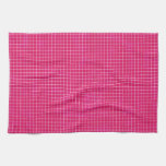 GRID12 HOT RICH CANDY PINK GRID GIRLY PATTERN TEMP KITCHEN TOWEL