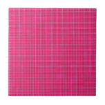 GRID12 HOT RICH CANDY PINK GRID GIRLY PATTERN TEMP TILE
