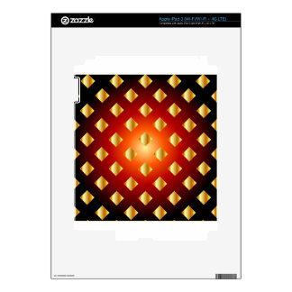 Grid background iPad 3 decal