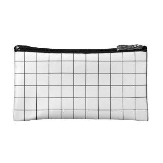 Grid bag cosmetic bag