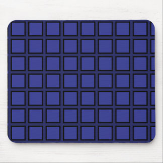 Grid Blue and Black Mousepads