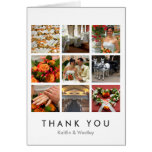 Grid collage 9 photos custom memories thank you greeting card