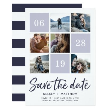 RedwoodAndVine Grid Collage | Photo Save the Date Card
