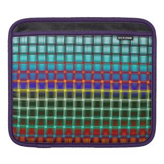 Grid colourful iPad sleeves