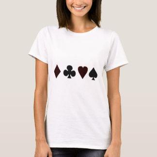 Grid Dot Vintage Card Suits T-Shirt