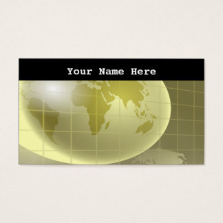 Grid Globe, Your Name Here Business Card