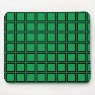Grid Green and Black Mousepads