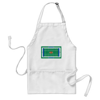 grid iron football field graphic adult apron