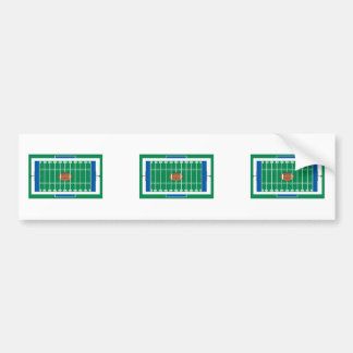 grid iron football field graphic bumper sticker