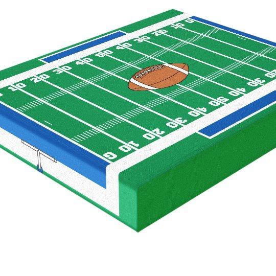 grid iron football field graphic canvas print