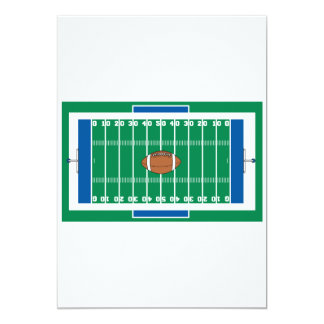 grid iron football field graphic card