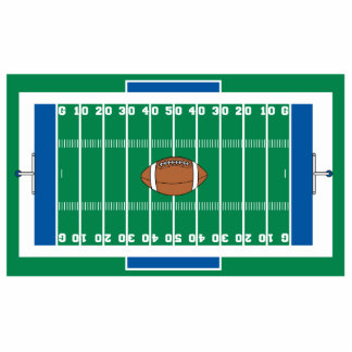 grid iron football field graphic cut outs