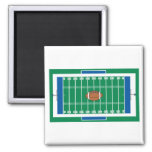grid iron football field graphic fridge magnet