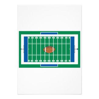 grid iron football field graphic invitations