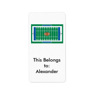 grid iron football field graphic label