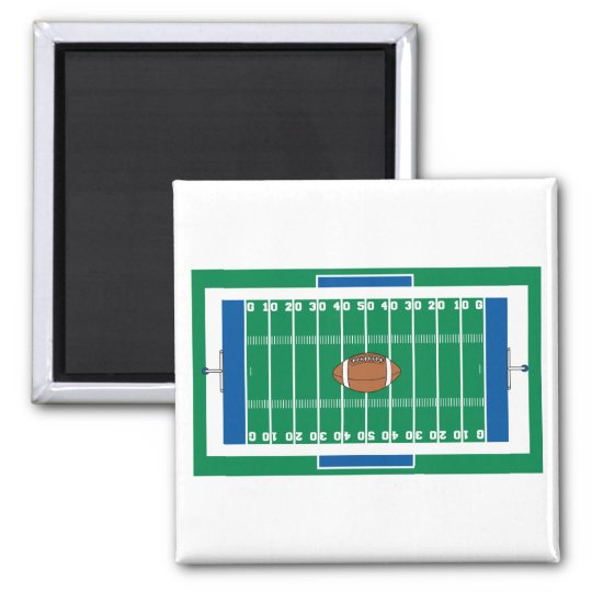 grid iron football field graphic magnet