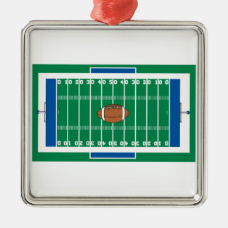 grid iron football field graphic christmas ornament