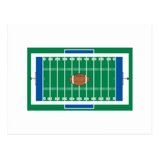 grid iron football field graphic postcards