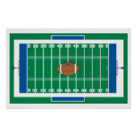 grid iron football field graphic posters