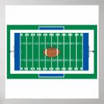 grid iron football field graphic print