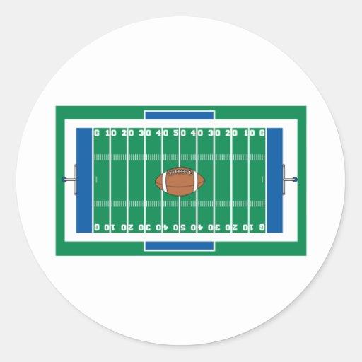 grid iron football field graphic sticker