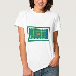 grid iron football field graphic tee shirt