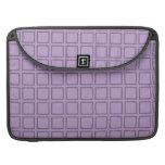 Grid Lilac Sleeves For MacBook Pro
