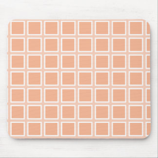 Grid Melon and White Mouse Pads
