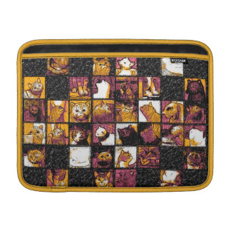 "Grid of Cats Macbook Air 13"" Horizontal Sleeve"
