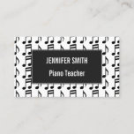 Grid of Musical Notes Business Card