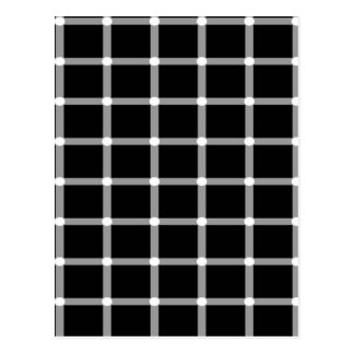 Grid Optical Illusion Design Postcard
