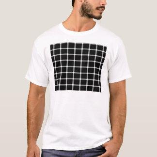 Grid Optical Illusion Design T-Shirt