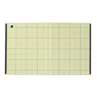 grid pattern blue line red dots iPad case