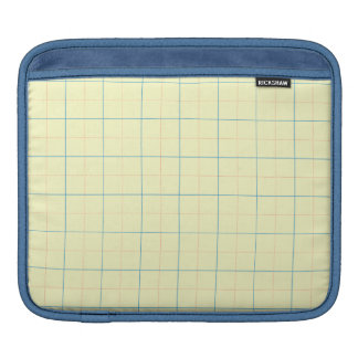 grid pattern blue line red dots sleeve for iPads